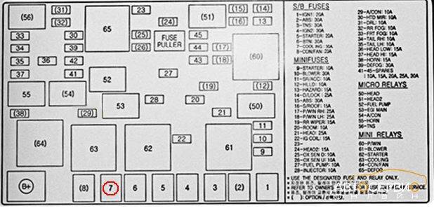 где находится датчик включения вентилятора на киа спектра