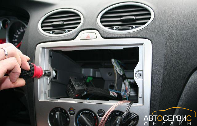 Снятие и замена штатной магнитолы Ford Focus 2 своими руками