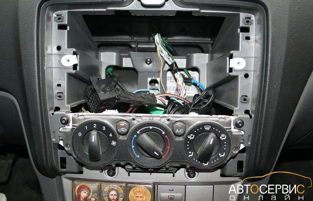 Панель Форд Фокус без рамки