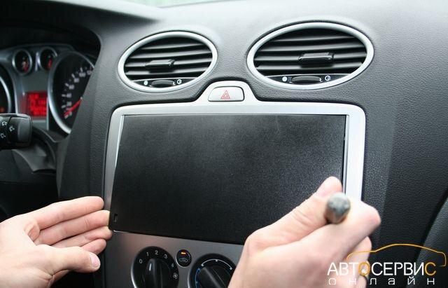 Снятие заглушки магнитолы Ford Focus 2