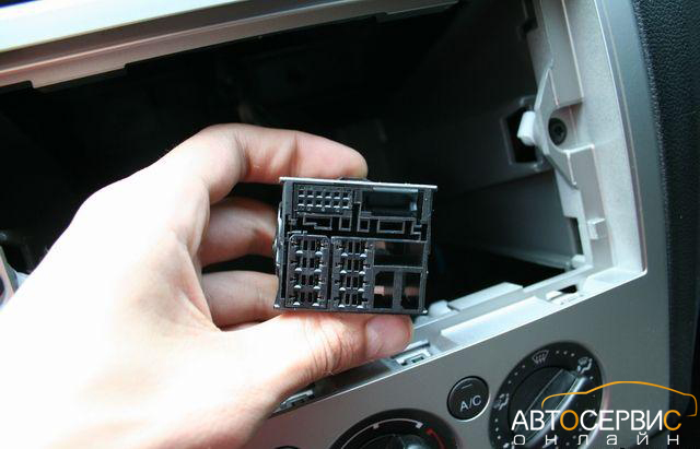 Разъем для подключения магнитолы Ford Focus 2