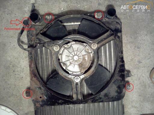 Крепление вентилятора радиатора