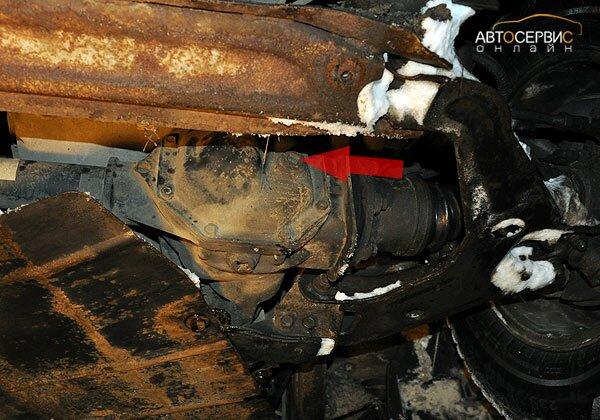 ТаГАЗ Tager. Пробка заливного отверстия переднего редуктора