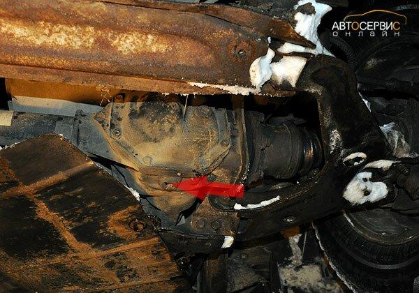 ТаГАЗ Tager. Пробка сливного отверстия переднего редуктора
