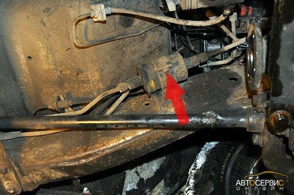 ТагАЗ Tager. Крепление топливного фильтра к кузову