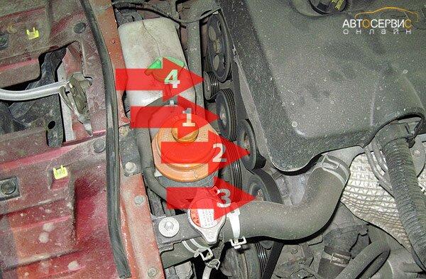 Suzuki Grand Vitara. Замена  ремня привода агрегатов